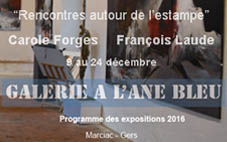 Décembre 2016 – Exposition à L'Âne bleu à Marciac