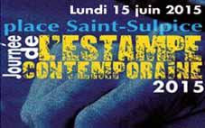 Juin 2015 – Journée de l'estampe contemporaine place Saint Sulpice